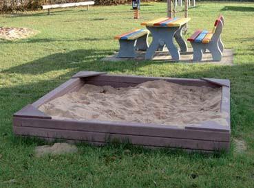 Bac à sable plastique recyclé