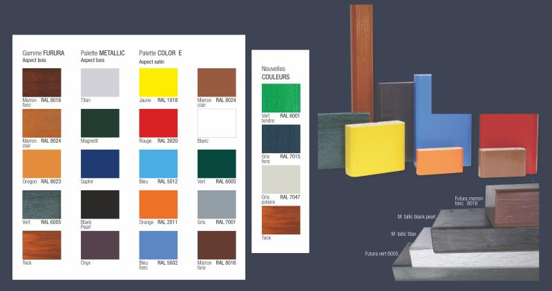 Palette de couleur plastique recyclé