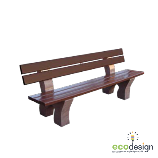 banc plastique recycl sans entretien. Black Bedroom Furniture Sets. Home Design Ideas