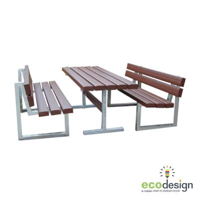 table banc plastique recyclé