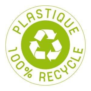 plastique 100% recyclé