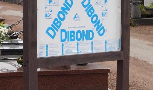 Panneau information plastique recyclé