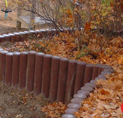 Mur de soutènement (Réf. 40197) Rondins emboitables, diamètre 16cm