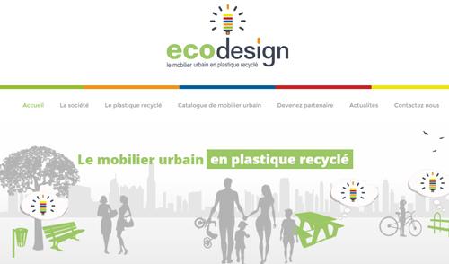 nouveau site internet ecodesign mobilier urbain plastique recycl. Black Bedroom Furniture Sets. Home Design Ideas