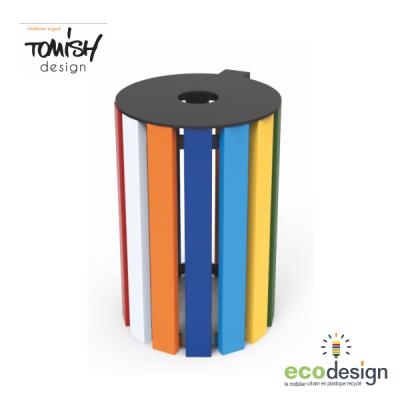 Nouvelle Gamme de mobilier urbain Tomish - corbeille en plastique recyclé